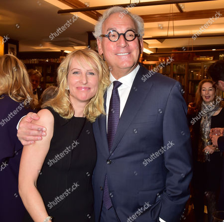 The Book Launch of the Liar's Ball by Vicky Ward: the Extraordinary Saga of How One Building Broke the World's Toughest Tycoons at Henry Sotheran's Sackville Street Mayfair London Vicky Ward with Her Partner Richard Cohen