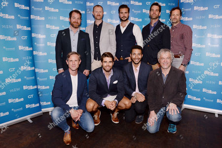 London, England 6th September Daniel Boys, Mark Gatiss, Ben Mansfield, Nathan Nolan, Ian Hallard, Jack Derges, Greg Lockett, James Holmes Attend 'The Boys in the Band' Press Launch at Balans, Soho On the 6th September 2016