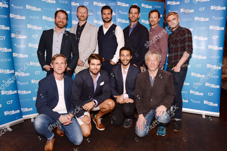 London, England 6th September Daniel Boys, Mark Gatiss, Ben Mansfield, Nathan Nolan, Ian Hallard, Jack Derges, Greg Lockett, James Holmes with the Director Adam Penford Attend 'The Boys in the Band' Press Launch at Balans, Soho On the 6th September 2016