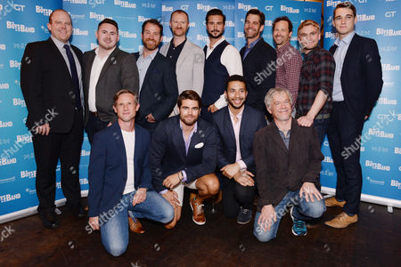 London, England 6th September Daniel Boys, Mark Gatiss, Ben Mansfield, Nathan Nolan, Ian Hallard, Jack Derges, Greg Lockett, James Holmes with the Director Adam Penford and Producers Attend 'The Boys in the Band' Press Launch at Balans, Soho On the 6th September 2016