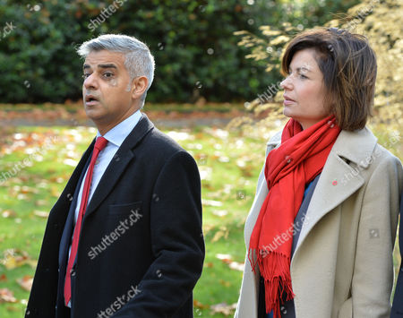 The Funeral of Paul Cottingham the Partner of Lord Michael Cashman at the City of London Crematorium Aldersbrook Rd Greater London Sadiq Khan Mp and Jane Hill