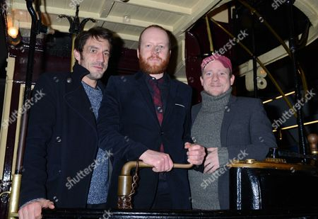 The Uk Premiere of 'Sightseers' at the London Transport Museum Convent Garden London Tom Meeten Steve Oram and Richard Glover