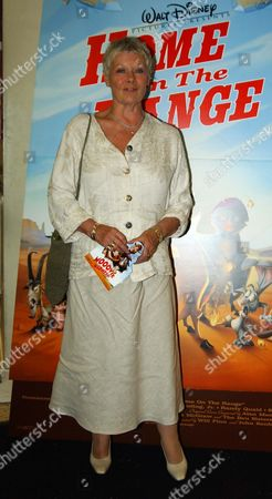 Uk Premiere of 'Home On the Range' in Aid of 'The Roy Kinnear Foundation' at the Odeon Westend Dame Judi Dench