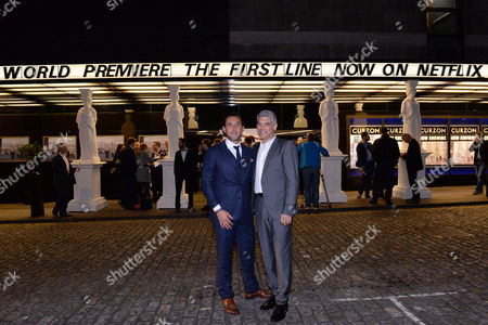 Stock Photo of London UK 28th Sept 2016: Pantelis Kodogiannis and Yorgo Voyagis at the World Premiere of 'The First Line' at the Curzon Mayfair, London On the September 28, 2016 London UK