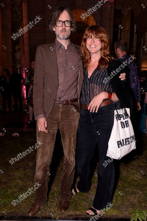 London, England 7th September 2016: Jarvis Cocker and Kim Sion at the 'you Say You Want a Revolution: Records & Rebels 1966-70' Preview Party at the Victoria and Albert Museum in London On the 7th September 2016
