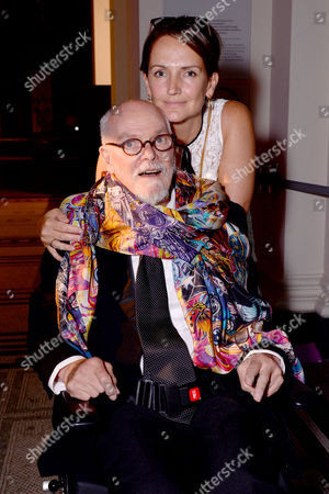Stock Photo of London, England 7th September 2016: Alan Aldridge with His Daughter Saffron Aldridge at the 'you Say You Want a Revolution: Records & Rebels 1966-70' Preview Party at the Victoria and Albert Museum in London On the 7th September 2016