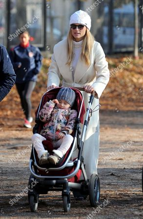Editorial photo of Michelle Hunziker out and about, Milan, Italy - 07 Dec 2016