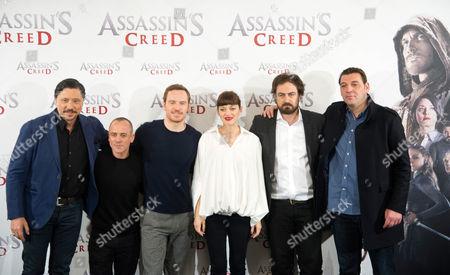 Stock Picture of Carlos Bardem, Javier Gutierrez, Michael Fassbender, Marion Cotillard, Justin Kurzel and Hovik Keuchkerian