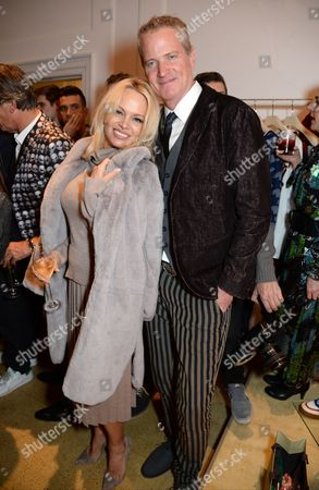 Pamela Anderson and Dan Mathews
