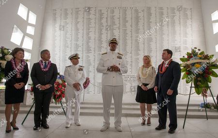 Editorial picture of Pearl Harbor 75th anniversary at ceremony, Honolulu, USA - 07 Dec 2016