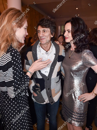 Stock Picture of Natalia Vodianova, Ronnie Wood and Sally Humphries