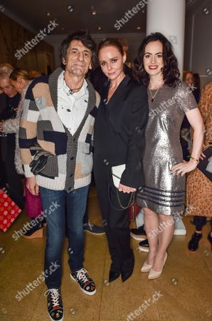 Ronnie Wood, Stella McCartney and Sally Humphries
