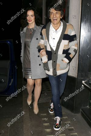 Sally Wood and Ronnie Wood at the Ivy Restaurant