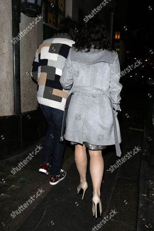 Stock Photo of Ronnie Wood and Sally Wood at the Ivy Restaurant
