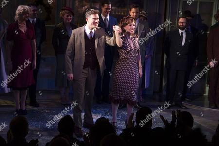 Mark Umbers (Georg Nowack) and Scarlett Strallen (Amalia) during the curtain call