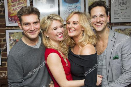 Mark Umbers (Georg Nowack), Scarlett Strallen (Amalia), Katherine Kingsley (Ilona Ritter) and Dominic Tighe (Steven Kodaly)