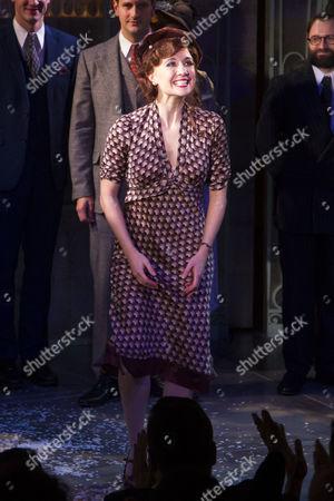 Scarlett Strallen (Amalia) during the curtain call