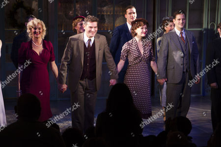 Katherine Kingsley (Ilona Ritter), Mark Umbers (Georg Nowack), Scarlett Strallen (Amalia) and Dominic Tighe (Steven Kodaly) during the curtain call