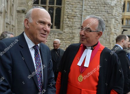 World Jewish Relief Islamic Relief & Christian Aid Event #weareallhuman - Interfaith Vigil: 'Showing Solidarity with the People of Iraq' Meeting at Westminster Abbey Vince Cable Mp and the Very Reverend Dr John Hall Dean of Westminster
