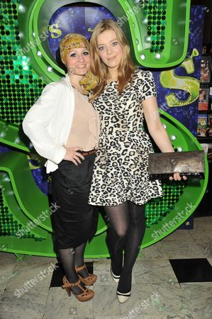 1st Anniversary Performance of Shrek at Theatre Royal Drury Lane the Voice Artists -toni Warne Becky Hill