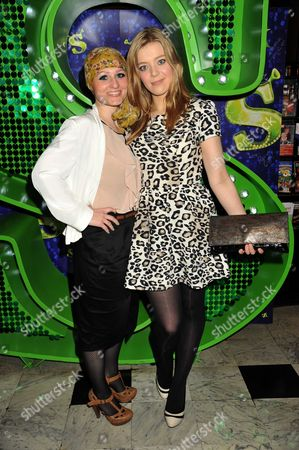 1st Anniversary Performance of Shrek at Theatre Royal Drury Lane the Voice Artists -the Voice Artists -toni Warne Becky Hill