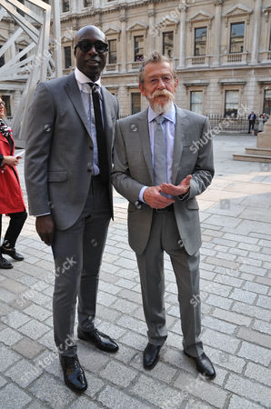 A Jubilee Celebration of the Arts at the Royal Academy of Arts Piccadilly London Oswald Boateng & John Hurt