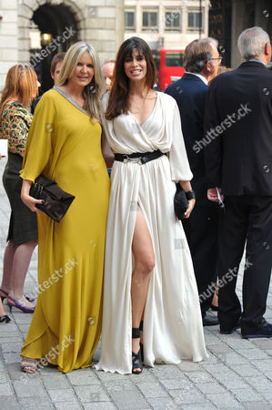 Stock Picture of A Jubilee Celebration of the Arts at the Royal Academy of Arts Piccadilly London Amanda Wakeley & Lisa ( B ) Bilton