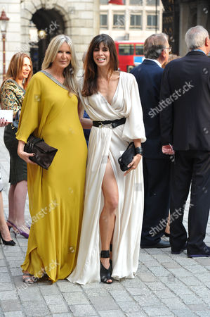 Stock Image of A Jubilee Celebration of the Arts at the Royal Academy of Arts Piccadilly London Amanda Wakeley & Lisa ( B ) Bilton