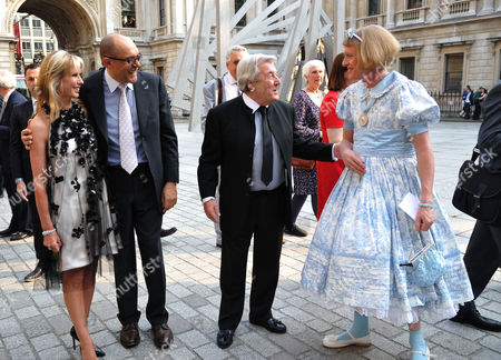 A Jubilee Celebration of the Arts at the Royal Academy of Arts Piccadilly London Susan Sangster Bruce Olfield Terry O'neil & Grayson Perry