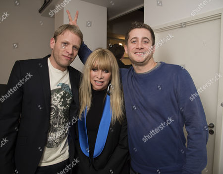A Private View of Pakpoom Silaphan 'Empire State' at Scream Eastcastle Street London Jo Wood with Her Sons the Gallery Owner Jamie Wood and His Brother Tyrone Wood
