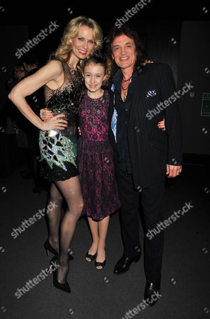 After Party For A Chorus Line at Aqua Argyll St London Leigh Zimmerman with Her Husband Domenick Allen and Their Daughter