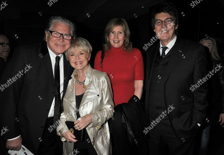 After Party For A Chorus Line at Aqua Argyll St London Gloria Hunniford and Her Husband Stephen Way with Mike Reid