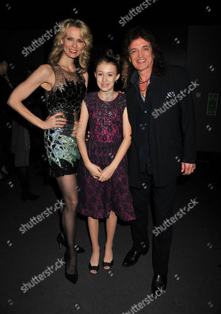 After Party For A Chorus Line at Aqua Argyll St London Leigh Zimmerman with Her Husband Domenick Allen and Their Daughter Cayleigh