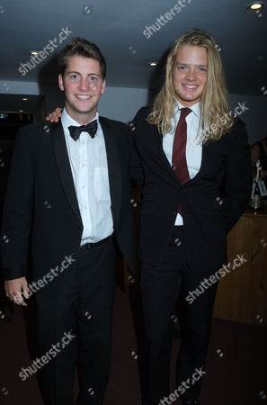An Education in Aid of Peas Quiz at at Shakespeare's Globe Theatre Bankside London Fredrik Ferrier with Spencer Matthews