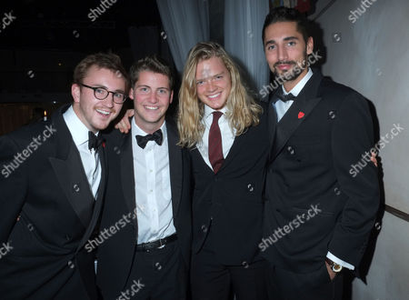 An Education in Aid of Peas Quiz at at Shakespeare's Globe Theatre Bankside London Made in Chelsea's Francis Boulle Spencer Matthews Fredrik Ferrier & Hugo Taylor