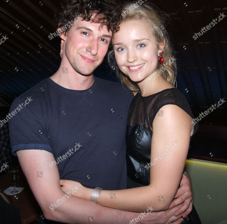 An Incident at the Border Press Night After Party at the Players Bar and Kitchen Villiers Street Westminster London Florence Hall with Her Boyfriend Joe Coen