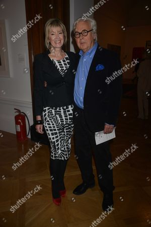 Australia Opening Reception at Royal Academy of Arts Burlington House Piccadilly London Julia Somerville and Sir Jeremy Dixon