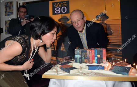 Author Wilbur Smith Celebrates His 80th Birthday with A Party at the Ivy Club Soho London Wilbur Smith with His Wife Niso