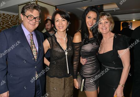 Author Wilbur Smith Celebrates His 80th Birthday with A Party at the Ivy Club Soho London Nicky Kerman Niso Smith Otavia Jardim & Juanita Kerman