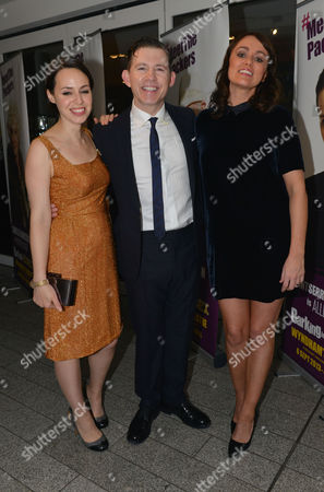 Barking in Essex Press Night at Wyndham's Theatre and the After Party at the Crypt at St Martin's in the Fields Montserrat Lombard Lee Evans and Keeley Hawes