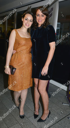 Barking in Essex Press Night at Wyndham's Theatre and the After Party at the Crypt at St Martin's in the Fields Montserrat Lombard and Keeley Hawes