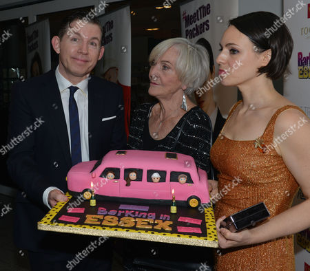 Stock Image of Barking in Essex Press Night at Wyndham's Theatre and the After Party at the Crypt at St Martin's in the Fields Lee Evans Sheila Hancock & Montserrat Lombard