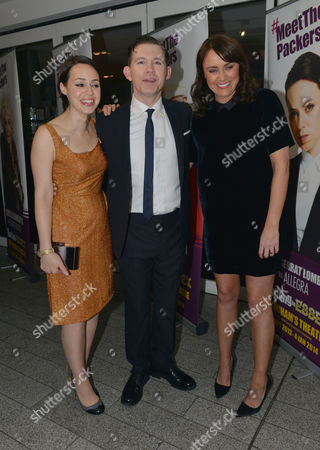 Stock Picture of Barking in Essex Press Night at Wyndham's Theatre and the After Party at the Crypt at St Martin's in the Fields Montserrat Lombard Lee Evans and Keeley Hawes