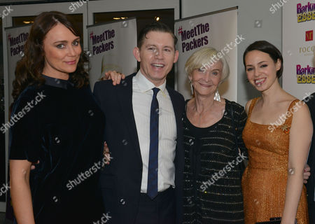 Barking in Essex Press Night at Wyndham's Theatre and the After Party at the Crypt at St Martin's in the Fields Keeley Hawes Lee Evans Sheila Hancock & Montserrat Lombard