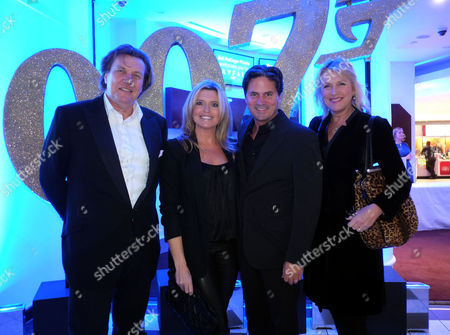Bell Pottinger Private Screening of Skyfall at the Lounge the Odeon Whiteley's Queensway London Oliver Wheeler & His Wife Tina Hobley with Theo & Louise Fennell