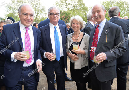 Bell Pottinger Private Summer Party at Lancaster House St James London Lord Michael Howard Lord Tim Bell & Lord Jeffrey Sterling