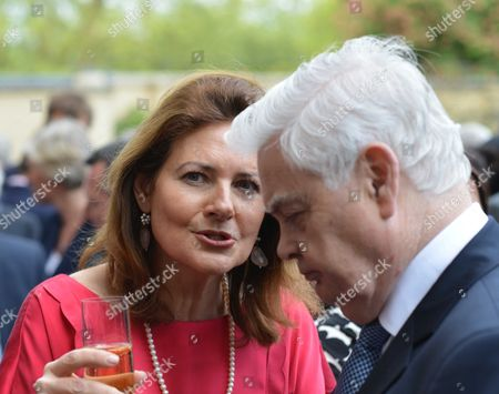 Stock Image of Bell Pottinger Private Summer Party at Lancaster House St James London Cristina Odone and Lord Lamont