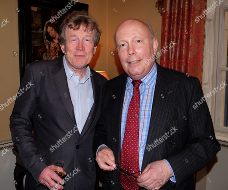 Stock Photo of Bell Pottinger Summer Party at Spencer House St James's Place London Duncan Heath and Lord Julian Fellowes