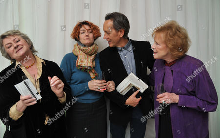 English National Ballet Host A Spectacular Star-studded Party St Martins Lane Hotel St Martins Lane Westminster London to Celebrate the Opening Night of Beyond Ballets Russes at the London Coliseum Sorcha Cusack Anna Chancellor Richard E Grant & Judy Parfitt