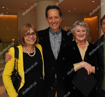 English National Ballet Host A Spectacular Star-studded Party St Martins Lane Hotel St Martins Lane Westminster London to Celebrate the Opening Night of Beyond Ballets Russes at the London Coliseum Richard E Grant His Wife and Joan Washington &n Sorcha Cusack